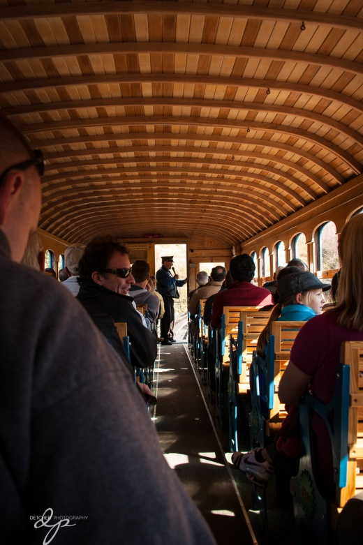 Inside the railcar