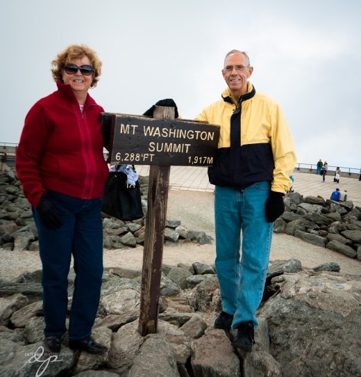 Mom and Dad at the summit!