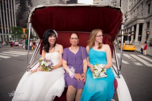The ladies took the carriage to Central Park - not a bad way to ride!